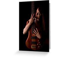 Love da Bass Greeting Card
