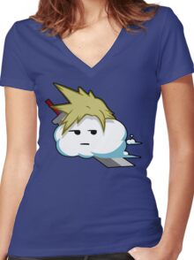 Cloud Puns! Women's Fitted V-Neck T-Shirt