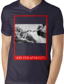 Art for Atheists: Darwin#1 Mens V-Neck T-Shirt