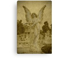 Golden Winged Angel Canvas Print