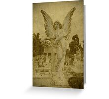 Golden Winged Angel Greeting Card