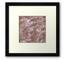 Brown Pink Grunge abstract Framed Print