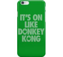 IT'S ON LIKE DONKEY KONG - Checkered (White) iPhone Case/Skin