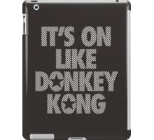 IT'S ON LIKE DONKEY KONG - Checkered (White) iPad Case/Skin