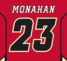 Calgary Flames Sean Monahan Jersey Back Phone Case by Russ Jericho