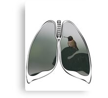Lungs - Humming Bird Canvas Print