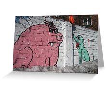 Graffiti on nzynierska street, New Praga, Warsaw, Poland Greeting Card