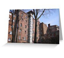 Old storage house on New Praga, Warsaw, Poland Greeting Card