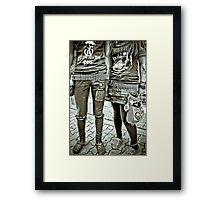 Punk Rockers Framed Print