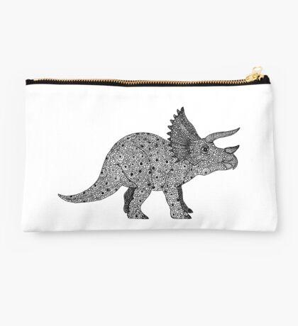 Triceratops Dinosaur Studio Pouch