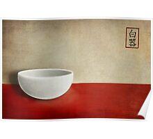 White bowl Poster