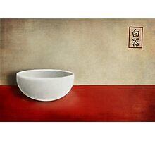 White bowl Photographic Print