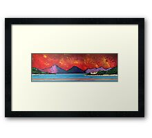 Red Sunrise At Seilebost Beach, Isle of Harris, Scottish Western Isles. Framed Print
