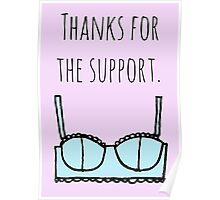 Support bra Poster