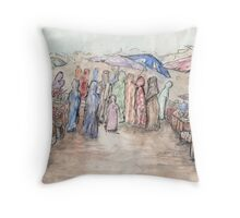 Market Day at the Souk Throw Pillow