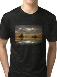 Magical light and water reflections landscape Tri-blend T-Shirt