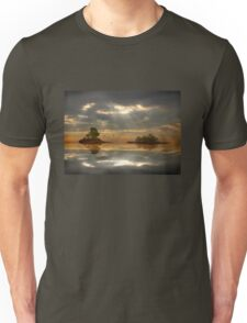 Magical light and water reflections landscape Unisex T-Shirt