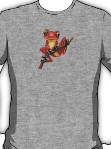 Cute Red Tree Frog on a Branch T-Shirt