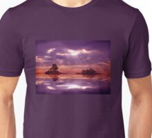 Purple sky reflections Unisex T-Shirt