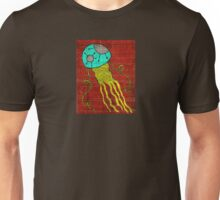 Fall Jellyfish in teal and lime Unisex T-Shirt