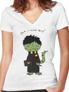 You're a Lizzard Women's Fitted V-Neck T-Shirt