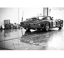 Old Sports Car in Garage Photographic Print
