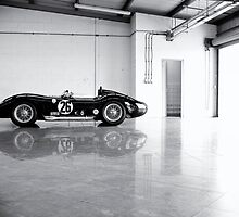Old Maserati in Garage by dunxs