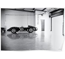 Old Maserati in Garage Poster