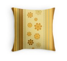 Retro Floral Design Vector Illustration Throw Pillow