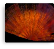 Copper Silk Fan Canvas Print