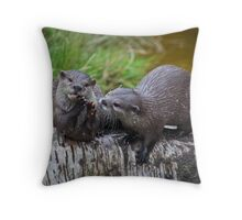 Otter Delight Throw Pillow