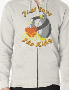 Just Love The Kids Zipped Hoodie
