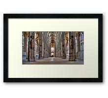 Church of St. Ouen - Internal View Framed Print