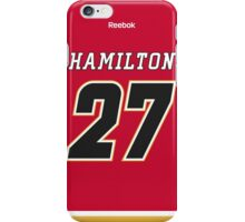 Calgary Flames Dougie Hamilton Jersey Back Phone Case iPhone Case/Skin