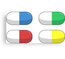 Pills - Red,Blue,Green,Yellow Canvas Print