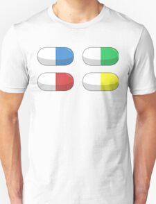 Pills - Red,Blue,Green,Yellow T-Shirt