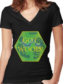 Got Wood? - Catan Women's Fitted V-Neck T-Shirt