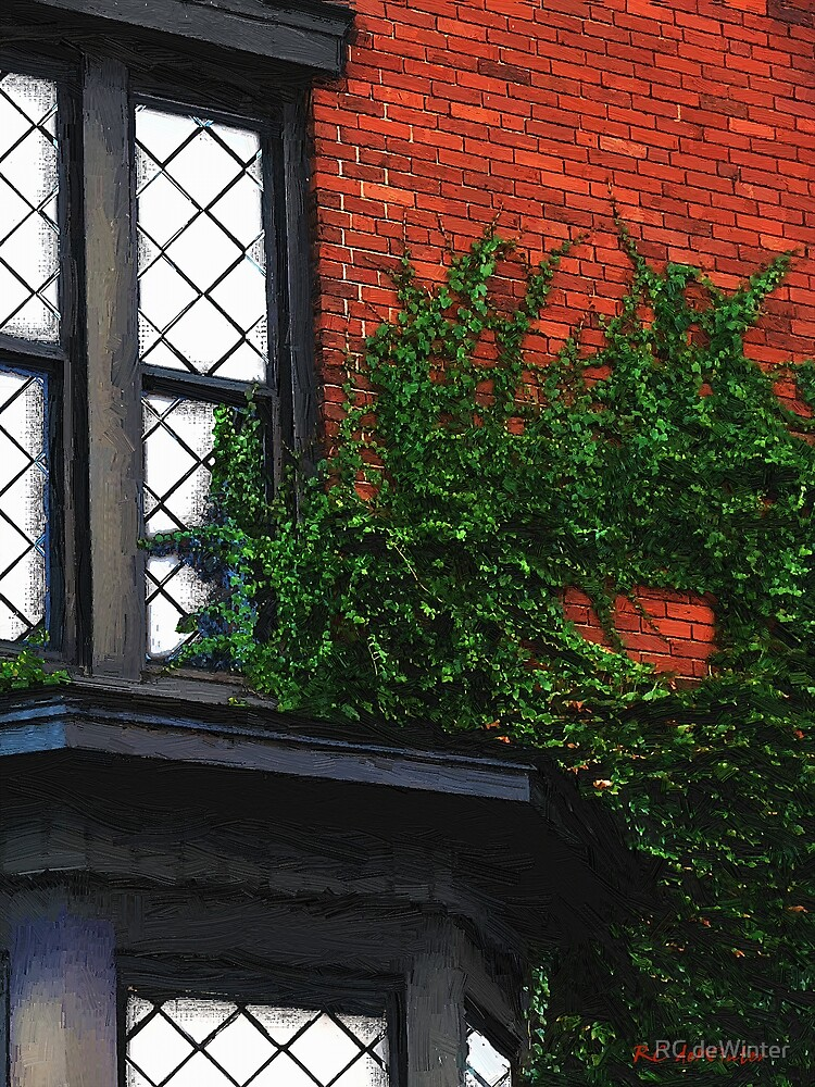 Green Ivy, Garnet Brick by RC deWinter