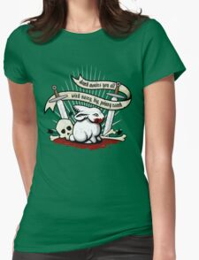 The Rabbit of Caerbannog Womens Fitted T-Shirt