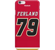Calgary Flames Micheal Ferland Jersey Back Phone Case iPhone Case/Skin