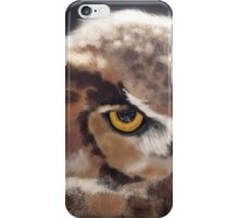 Serious Horned Owl iPhone Case/Skin