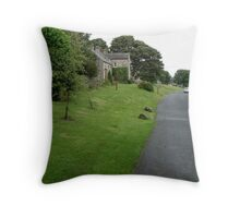 High Street, Thornton Steward, North Yorkshire Throw Pillow