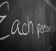 Each Person Should... by WanderingAngel