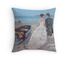Wedding at Paternoster Throw Pillow