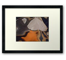 Spirit Quest, Abstract Photography, Raw Image, Refraction through glass Framed Print