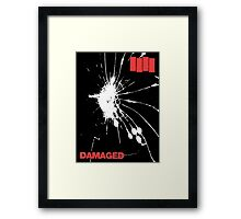 Black Flag - Damaged Framed Print