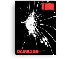 Black Flag - Damaged Canvas Print
