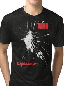 Black Flag - Damaged Tri-blend T-Shirt