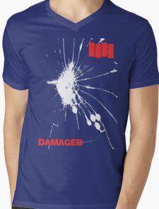 Black Flag - Damaged Mens V-Neck T-Shirt