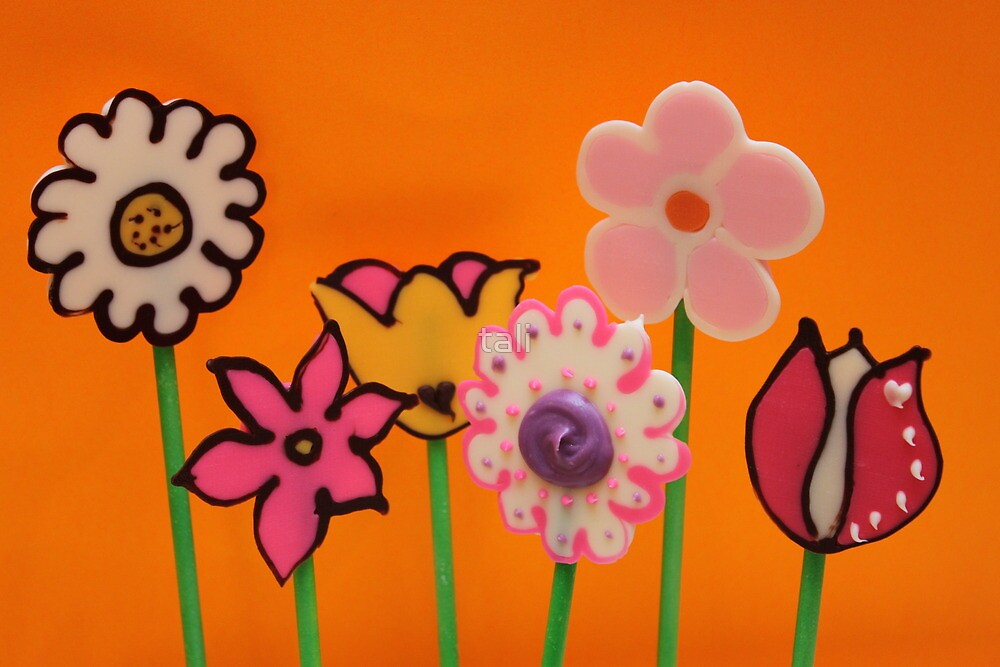 Chocolate Flower Pops ! by tali